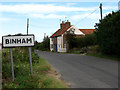 TF9839 : Approach to Binham on Hindringham Road by Evelyn Simak
