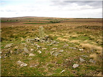 SK2775 : Cairn on Big Moor by Roger Temple