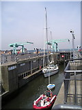 ST1972 : Cardiff Bay Barrage Lock by Derek Jones