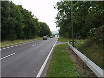 SJ2615 : The  A483 heads south into the Severn Valley by John Haynes