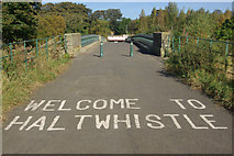NY7063 : Welcome to Haltwhistle by Stephen McKay