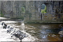 NY7063 : River South Tyne and Alston Arches Viaduct by Stephen McKay