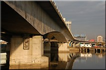 J3474 : Elevated road and railway, Belfast (3) by Albert Bridge