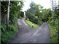 NY2324 : Access road to Wychwood, Shotover and Windrush - houses in Braithwaite by Alexander P Kapp