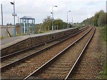 TM4598 : Haddiscoe Railway Station looking towards Norwich by Helen Steed