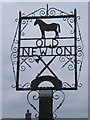 TM0462 : Old Newton village sign by Andrew Hill