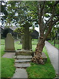 SD7336 : St Mary's and All Saints Church, Whalley, Celtic Cross 1 by Alexander P Kapp
