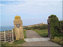 SH4793 : Road to the lighthouse by Steve  Fareham