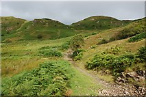 NM8617 : Hill track above Corrylorn Farm by Colin Chambers