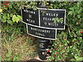 SJ2618 : Montgomery Canal 13 mile milepost by John Haynes