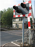 SO6301 : Level Crossing, Lydney Station by Pauline E