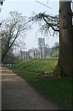 SE2768 : Fountains Abbey through the trees by Jeff Pearson