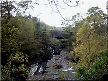 SH7357 : Pont  Cyfyng over  Afon Llugwy by Tom Pennington