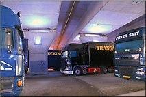 J3474 : Underneath the arches, Belfast by Albert Bridge