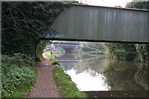 TQ0562 : Junction of Basingstoke Canal with River Wey by Dr Neil Clifton