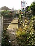 TQ0702 : Footpath crossing West Coastway rail line by Peter Holmes