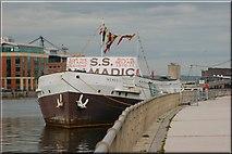 "J3474 : The SS ""Nomadic"" at Belfast by Albert Bridge"