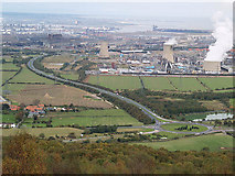 NZ5619 : Greystones Roundabout and Wilton chemical site by Stephen McCulloch