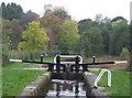SJ9151 : Caldon Canal at Stockton Brook Top Lock, Staffordshire by Roger  Kidd