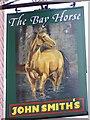 TA0664 : Sign for the Bay Horse, Kilham by Maigheach-gheal