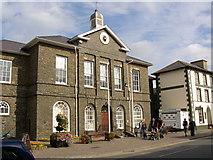 SN4562 : County Hall, Market Street (Heol y Farchnad), Aberaeron by Humphrey Bolton