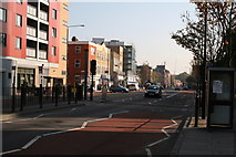 TQ3581 : Commercial Road, looking east by Dr Neil Clifton