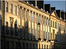 ST7565 : Great Pulteney Street, facade and morning shadows by Chris Gunns