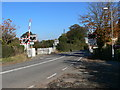 SJ4222 : Level crossing at Baschurch by Eirian Evans