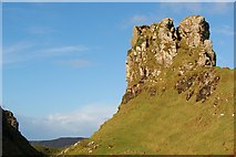 NG4162 : Castle Ewen by John Allan