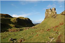 NG4162 : Below Castle Ewen by John Allan