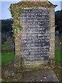 SN1124 : Founder's gravestone, Rhydwilym Chapel, Llandissilio East by Humphrey Bolton