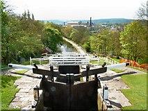 SE1039 : Bingley from top of Five Rise Locks by Roy W Lambert
