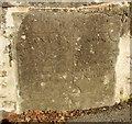SN1023 : The county boundary stone on Llwyn-dwfr Bridge, Llanycefn / Llandissilio East by Humphrey Bolton