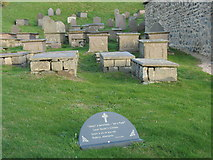 SH1726 : Box graves on the north side of Eglwys Hywyn Sant by Eric Jones