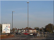 SU1584 : Swindon: The Magic Roundabout and sign by Chris Downer