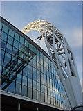 TQ1985 : Wembley Stadium Arch, Eastern Pier by Oxyman
