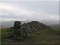 NY3135 : Summit Cairn and Trig Point, High Pike by Chris Eilbeck