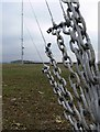 SP5781 : Temporary wind turbine test mast by Mat Fascione