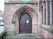 SJ5798 : St Thomas Church, Ashton-in-Makerfield, Doorway by Alexander P Kapp