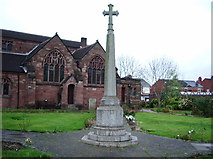 SJ5798 : St Thomas Church, Ashton-in-Makerfield, War Memorial by Alexander P Kapp