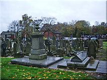 SJ5798 : St Thomas Church, Ashton-in-Makerfield, Graveyard by Alexander P Kapp