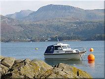 SH6215 : Boat at Porth Aberamffra, Barmouth by David Bowen
