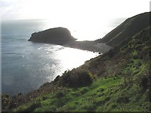 SH2026 : The Porth Cadlan tombolo from Gallt y Mor by Eric Jones