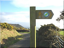 SH2026 : The departure point of the Llyn Coastal Path path from the Llanfaelrhys road by Eric Jones