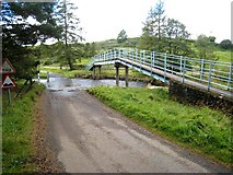 NY8450 : Ford and footbridge on the East Allen by Oliver Dixon
