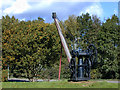 SJ1258 : Old railway crane, Ruthin by Nigel Brown
