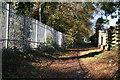 TQ2256 : Footpath looking north near railway bridge by Dr Neil Clifton