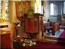 SD4455 : Christ Church, Glasson, Pulpit by Alexander P Kapp