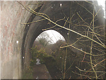 SO9700 : Thames & Severn Canal Towpath - Swindon Gloucester Railway Overbridge by Gemma Barclay