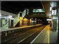 TL3707 : Platforms and footbridge, Broxbourne railway station by Oxyman